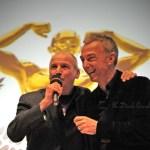 Aldo Rock e Linus all'Oscar del Triathlon del 1° marzo 2014 (Foto: Dardo Gaudin)