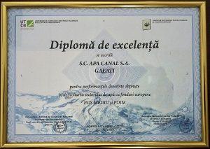 În mod ironic, în săptămâna în care S.C. APA CANAL S.A. a primit diploma de excelența jumătate de oraș a rămas de două ori fără apa ca urmare a avariilor majore.