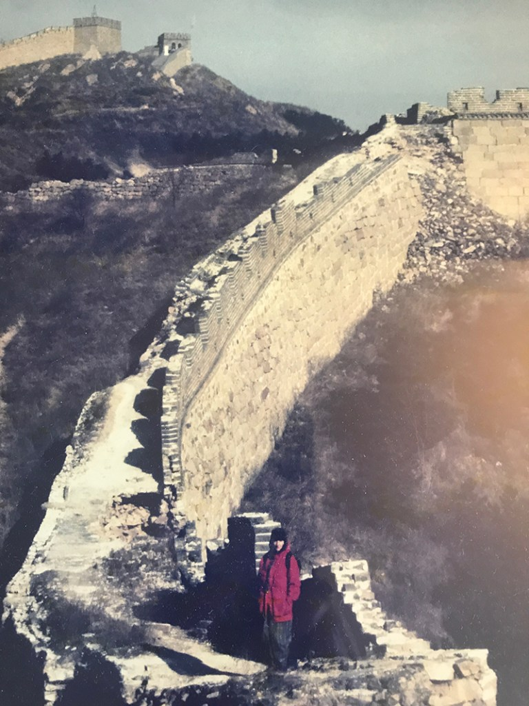 Nicole on the Great Wall of China