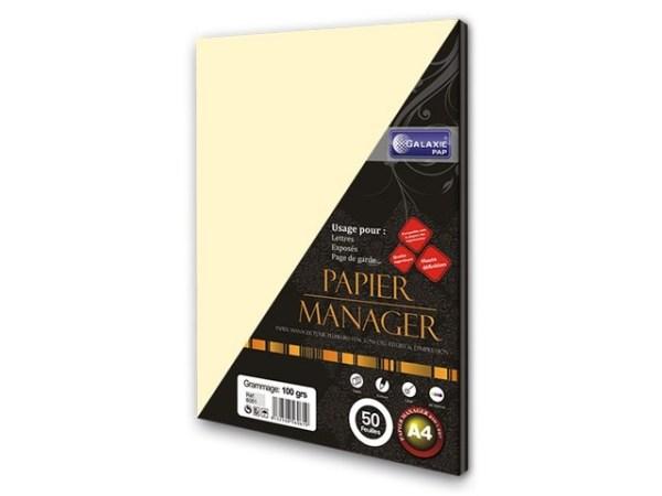 Papier manager ivoire