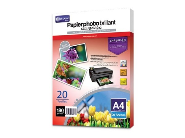 Papier photo brillant 180g A4