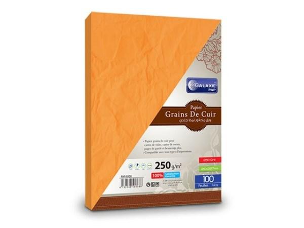 grains de cuir A4-100-orange