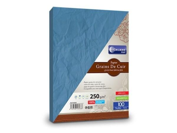 grains de cuir A4-100-bleu foncé