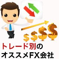トレード別おすすめFX会社