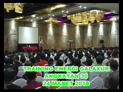Training Energi galaxur Angkatan 30