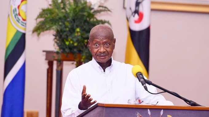 President Museveni was visibly angry when alerting citizens on the dangers Covid-19 posses to the country if measures were ignored (PP Photo)