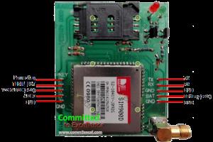 SIM900D GSM Board pinouts