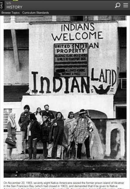 Occupying Alcatraz: The Native American Experience Then and Now