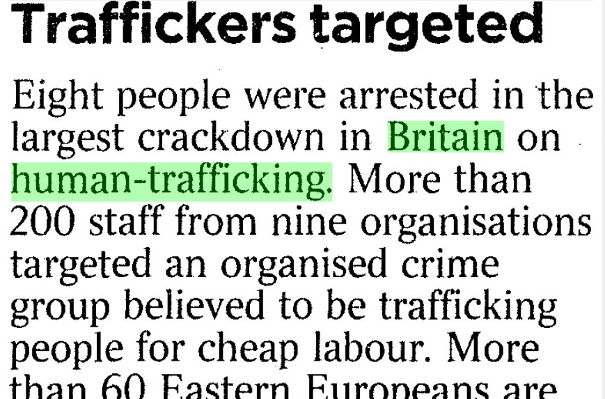 How can human trafficking be tackled in Britain?