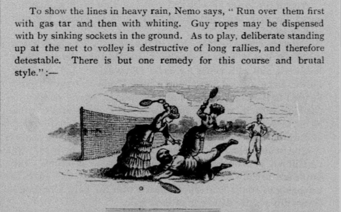 """The Tennis Season."" The Photographic Art Journal, vol. I, no. 9, 1888, p. 100. Nineteenth Century Collections Online"