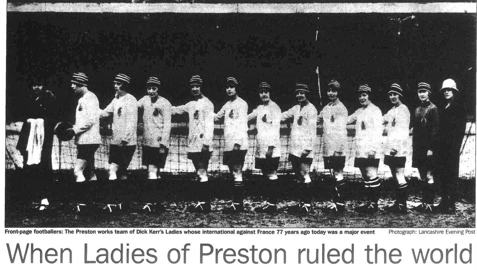 "Rowbottom, Mike. ""When Ladies of Preston ruled the world."" Independent, 27 Feb. 1997, p. 26. The Independent Digital Archive"