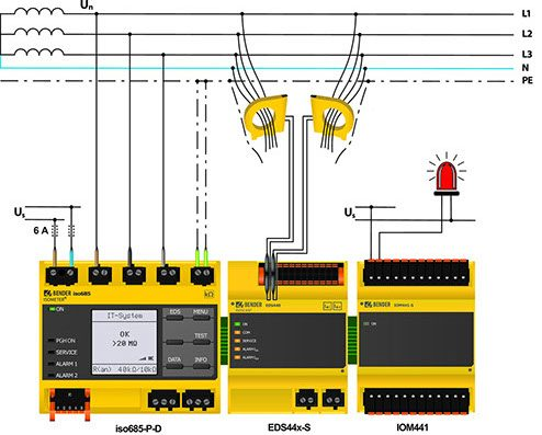 vigilancia de aislamiento eléctrico bender