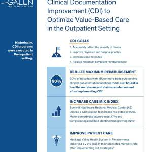 Outpatient Clinical Documentation Improvement Infographic