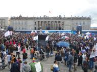 Palacio de Nariño en manifestación contra destitución de Gustavo Petro