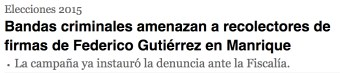 El 5 de mayo Federico Gutiérrez denunció intimidaciónes a su campaña en Manrique