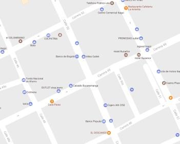 Mapa de la carrera 49 con calle 48 en itagúí