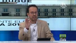 Carlos Andrés Naranjo Sierra, analista político, en la transmisión del análisis de la segunda vuelta presidencial en Colombia.