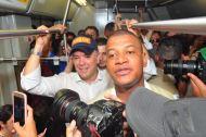 Iván Duque en el Metro de Medellín.