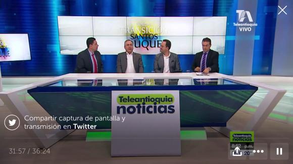 Especial de Teleantioquia Noticias sobre cambio de gobierno Juan Manuel Santos e Iván Duque.