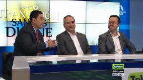 Óscar Correa, Sergio Soto y Carlos Naranjo.