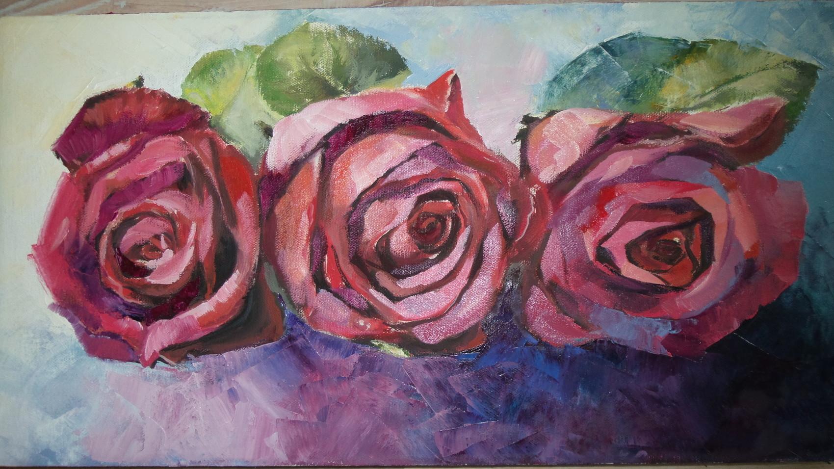 Peinture Roses