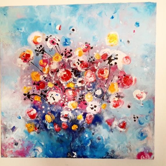 tableau peinture fleurs peinture