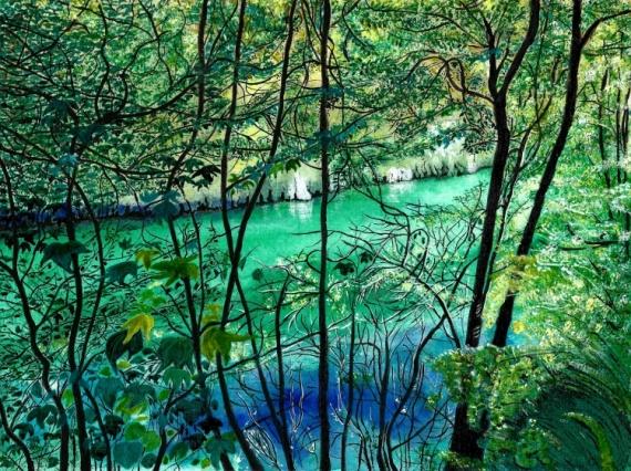 TABLEAU PEINTURE Verdon Provence Eau Nature La Vie