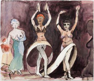 Claus Weidensdorfer // Tanz mit dem Band Aquarell, Tusche 2008
