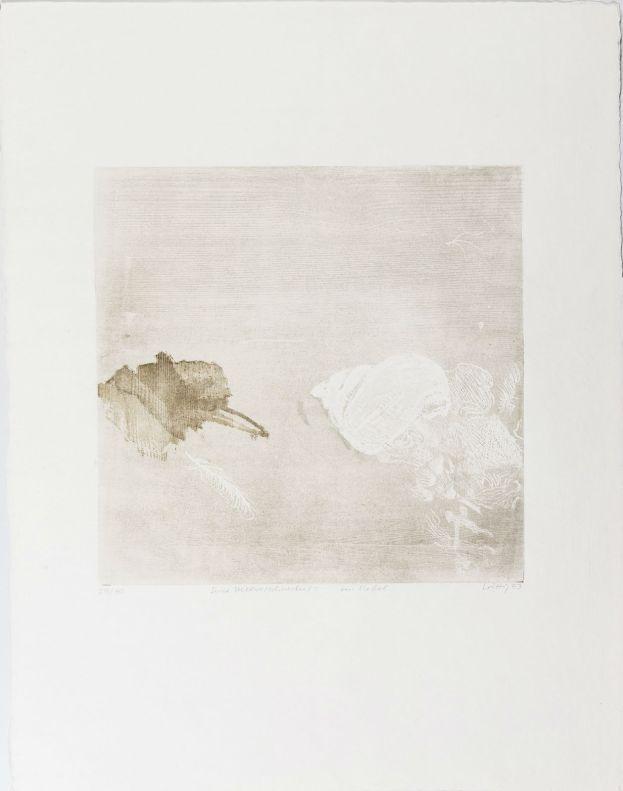 Werner Wittig // Serie Meeresschnecke im Nebel Holzriß 1993