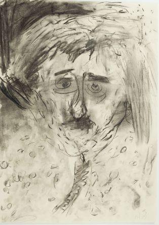 Peter Herrmann // Selbst Zeichnung Kohle