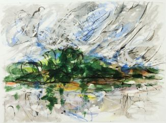 Gerda Lepke // An der Elbe Aquarell 1995