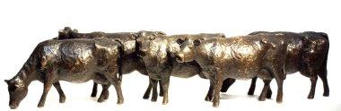 5 Koeien - brons - 18 cm hoog