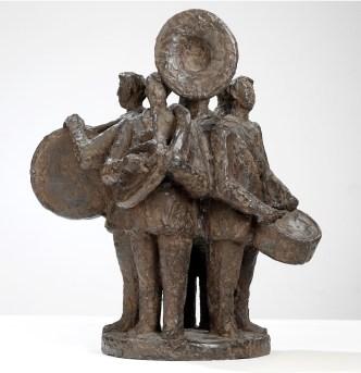 Vier muziekanten - brons - 45 cm hoog
