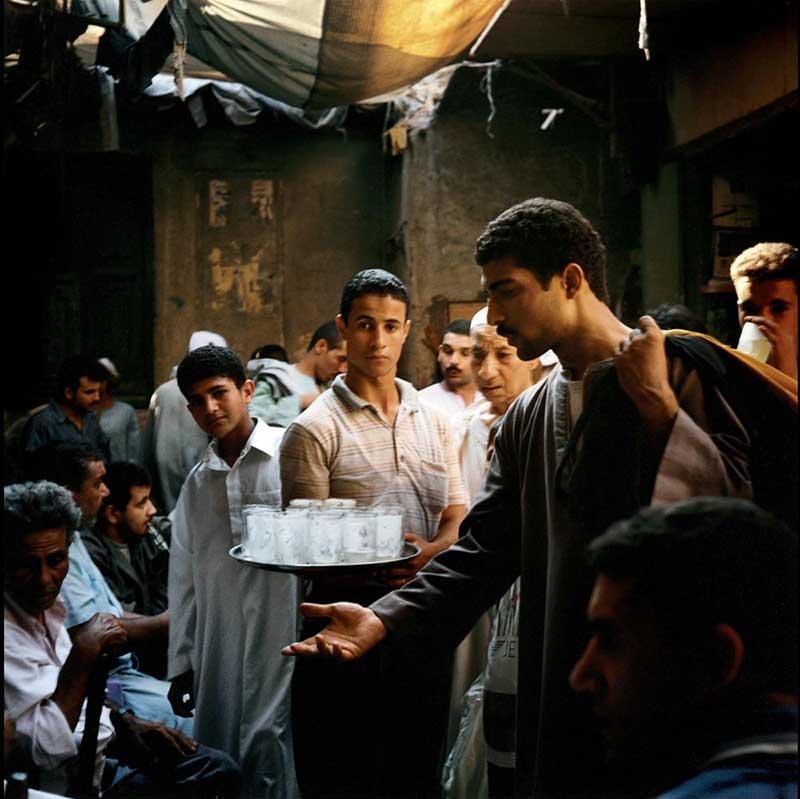 Un vendeur de limonade dans le souk