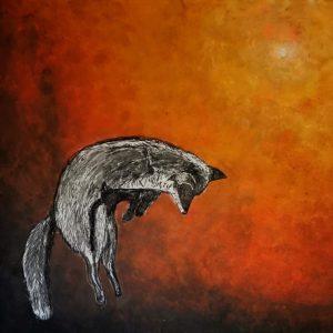 Renard Chassant, peinture d'Elise Couval