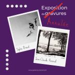 Exposition de gravures… annulée