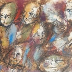 Grégarité, peinture de Lin B Zin