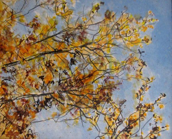 Soleil automne peinture Simon C.