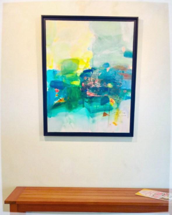 Peinture de Wang Yan Cheng exposée à la galerie des Tuiliers