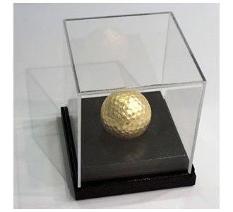 Vergoldeter Golfball