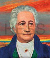 AUF ANFRAGE James Francis Gill, Goethe, Serigrafie auf Büttenpapier, Aufl. /100 + 10 EA + 1 PP, 75 x 65 cm