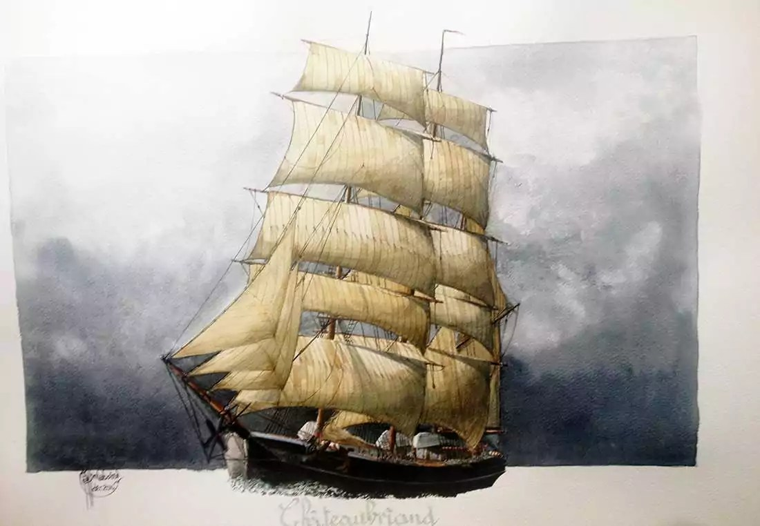 Exposition PIERRE RAFFIN-CABOISSE Chateaubriand voilier
