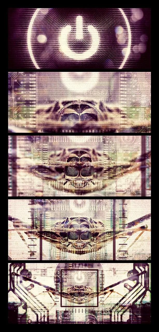 Bug in the system polyptyque - Pierre-Emmanuel Chatiliez SPLIT SCREEN