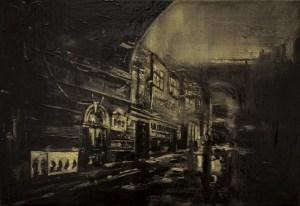 Bas fond - Thierry Chavenon 35 x 24 cm Pochade à l'huile Sur Carton Entoilé