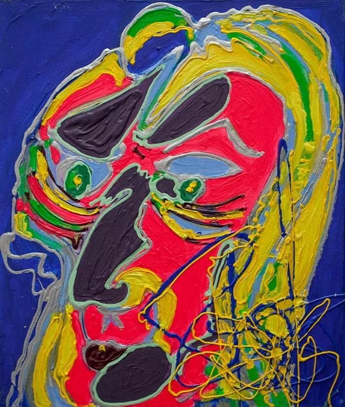 Isa Sator « l'oncle explorateur » 2018 50 x 60 cm Acrylique sur toile