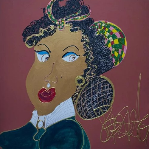 La cousine germaine - Jeanne Duval - 2018 - 100 x 100 cm -Acrylique sur toile