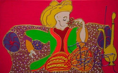 Isa Sator « Le parrain – Le prince gourmand » 2018 70 x 40 cm Acrylique sur toile