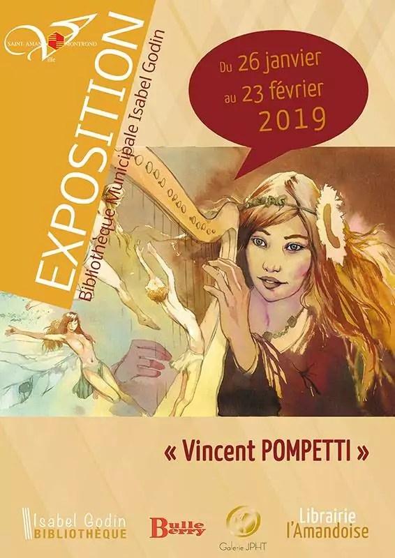 Vincent Pompetti Exposition à Bourges Bibliothèque municipale de Bourges