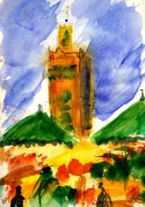 La koutoubia - Marrakech - Maroc - Alain Husson Dumoutier