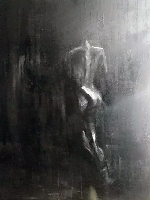 La pluie noire Huile sur toile 60x90